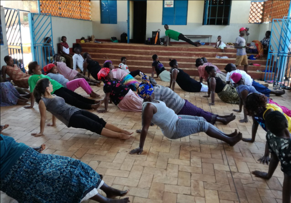 The Women during fitness exercise at Kireka